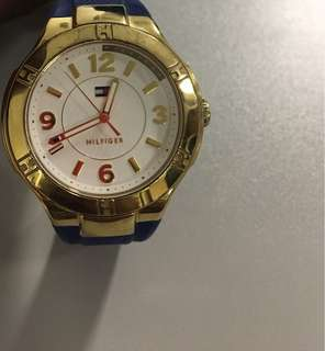 Its Blue col HILFIGER Brand watch.