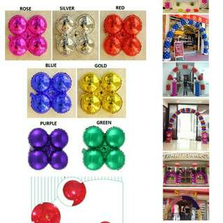 Rounded Four Wheels Shape Foil Balloon