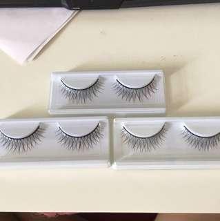 False Eyelashes (set of 3)