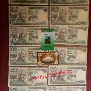 UANG LAMA Rp.50.000,- Bpk. SOEHARTO MESEM