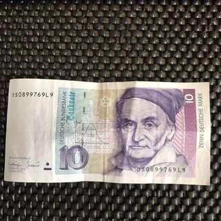 🚚 1993德國10元馬克