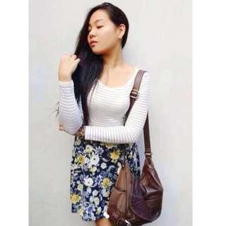 Floral skirt printed