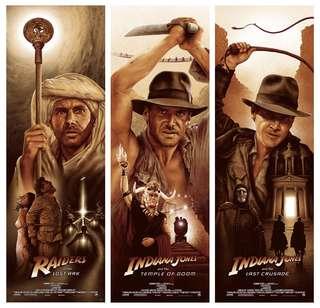 Indiana Jones Print set by artist Adam Rabalais
