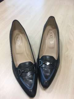 TOD's Black 37 Leather pump