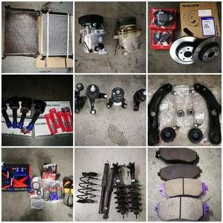 OEM BRAKE; ROTOR; ENGINE MOUNTING/ LOWER ARM; OIL LEAK REPAIR; ENGINE SERVICING