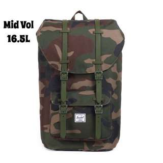 [INSTOCK] HERSCHEL SUPPLY LITTLE AMERICA MID VOLUME BACKPACK (CAMO)
