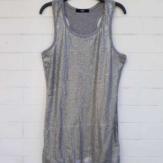 Gray Sequined dress