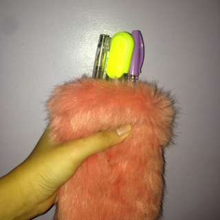 Fur pencil case