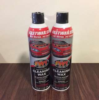 FW1 Cleaning Wax (Twin pack with microfiber towels)