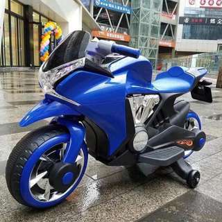 Blue Big Bike Rechargeable Ride on Motorcycle Toy