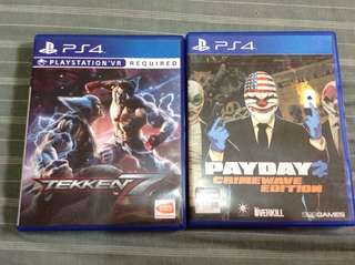 PS4 Games Bundle Tekken 7 & Payday
