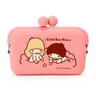 Japan Sanrio Little Twin Stars Silicone Pouch Card Case