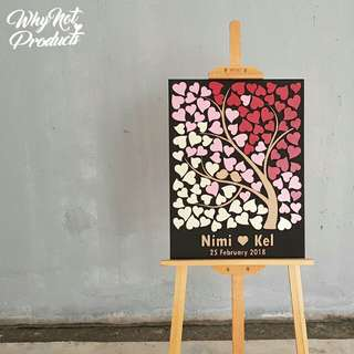Lasecut Guestbook Board