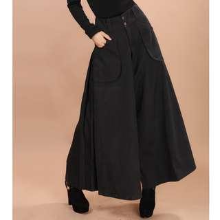 [NEW] Wide Leg Pants *Large Trousers Casual Skirts * Long Dance Pants (Black)