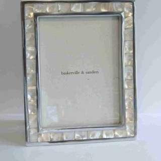 Baskerville & Sanders Mother of pearl frame