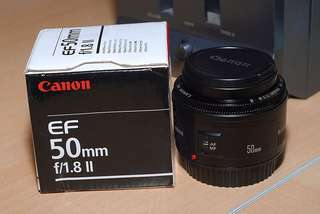 canon 50mm 1.8 + UV Filter