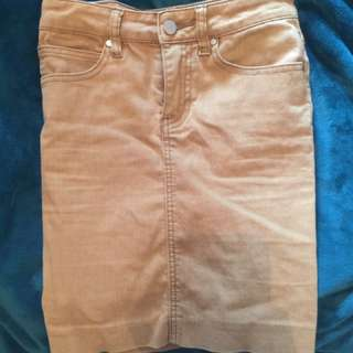 Tan High Waisted Skirt