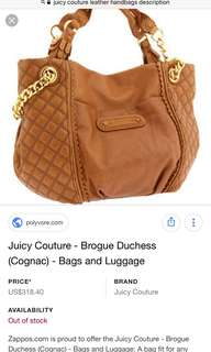 Authentic Juicy Couture Brogue Duchess (cognac)