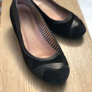 Blue Illusion Leather/suede Flats - Size 37