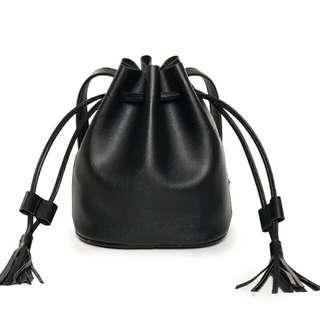 Bucket bag minimalist drawstring