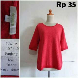 Detail Red Blouse