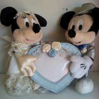 Mickey & Minnie Mouse w/ photo frame