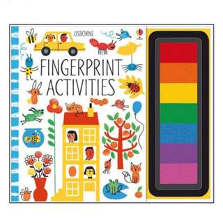 *In Stock* BN Usborne Fingerprint Activities Book with Ink Pad by Fiona Watt