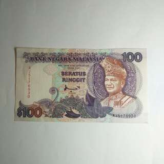 Malaysia  old $100 note