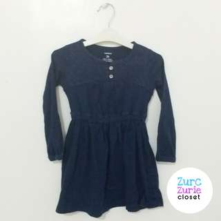 Carter's Navy Blue LS Dress | Size 2T  (run small may to 18M to Petite 2T) | Good Condition