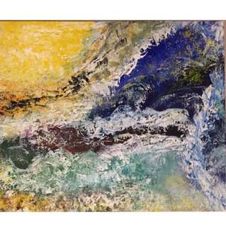 Abstract acrylic painting - sea wonders
