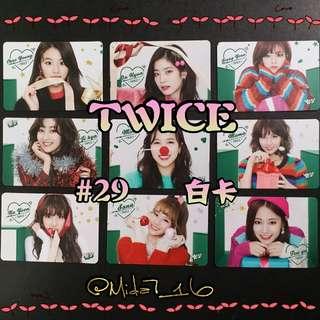 29期 - Twice - YES卡 ( 白卡@1Set )