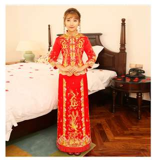 Beautiful Qun Kua / Chinese Wedding Dress/ Wedding Tea Ceremony