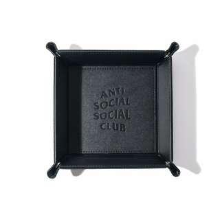 Anti social social club trailing black 全新 黑 雜物托盤 key chain cap tee coach jacket sticker