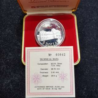 1987 $5 Sterling Silver Proof Coin