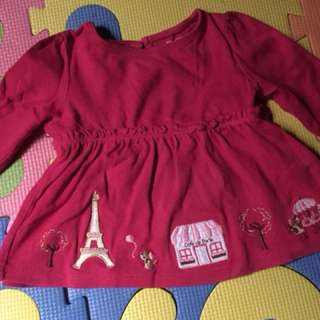 Baby longsleeved blouse / 3-6 months