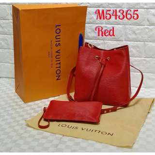 Louis Vuitton Petite Noe (Red/Pink)