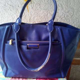 Charles & Keith Auth Bag (suede blue)