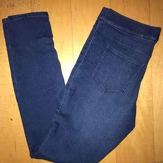 h&m legging denim diatas mata kaki(model ngatung