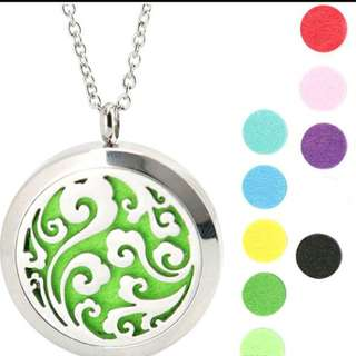 Ocean ~ Essential Oil surgical Stainless Steel Perfume Diffuser Oils Locket Necklace