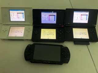 Nintendo DS Lite and PSP