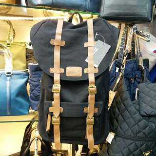 3775 MAJOR STAR 帆布配真皮背囊 Canvas Backpack with Leather