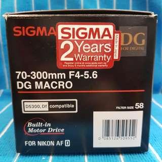 Sigma 70-300 DG Nikon