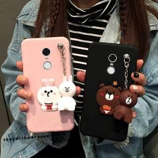 LINE Brown HelloKitty Redmi / Huawei / Oppo / Samsung casing