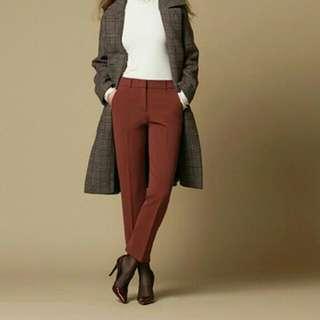 Zisbuy Red Korean HW Slim Pants