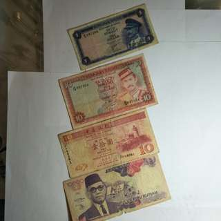 Old asean notes 4pc sale $18