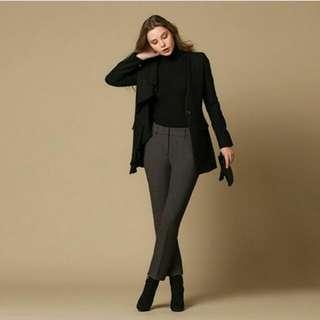 Zisbuy Grey Korean Slim Pants