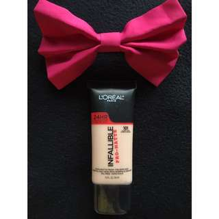 Auth Loreal Infallible Pro-Matte