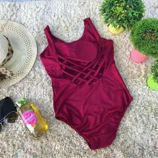 Strappy Back One Piece Swimsuit