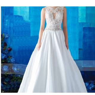 Korean Beaded Lace illusion Wedding Gown