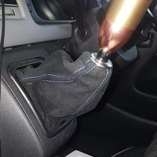 Hiace Manual Gear stick Boot Cover. Alcantara Look. With Blue Or Red Stitch. Cash And Carry. Not Mts Legance SAD Essex. For All Manual Toyota Hiace Euro 3 To Euro 6